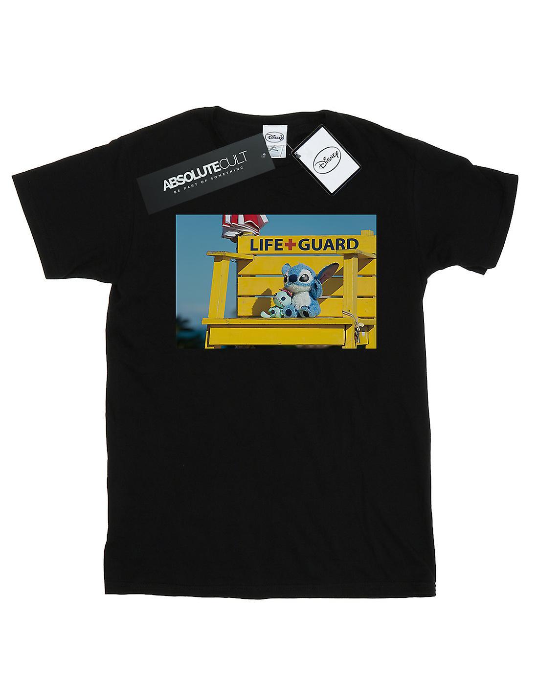 Disney Women's Lilo And Stitch Life Guard Boyfriend Fit T-Shirt
