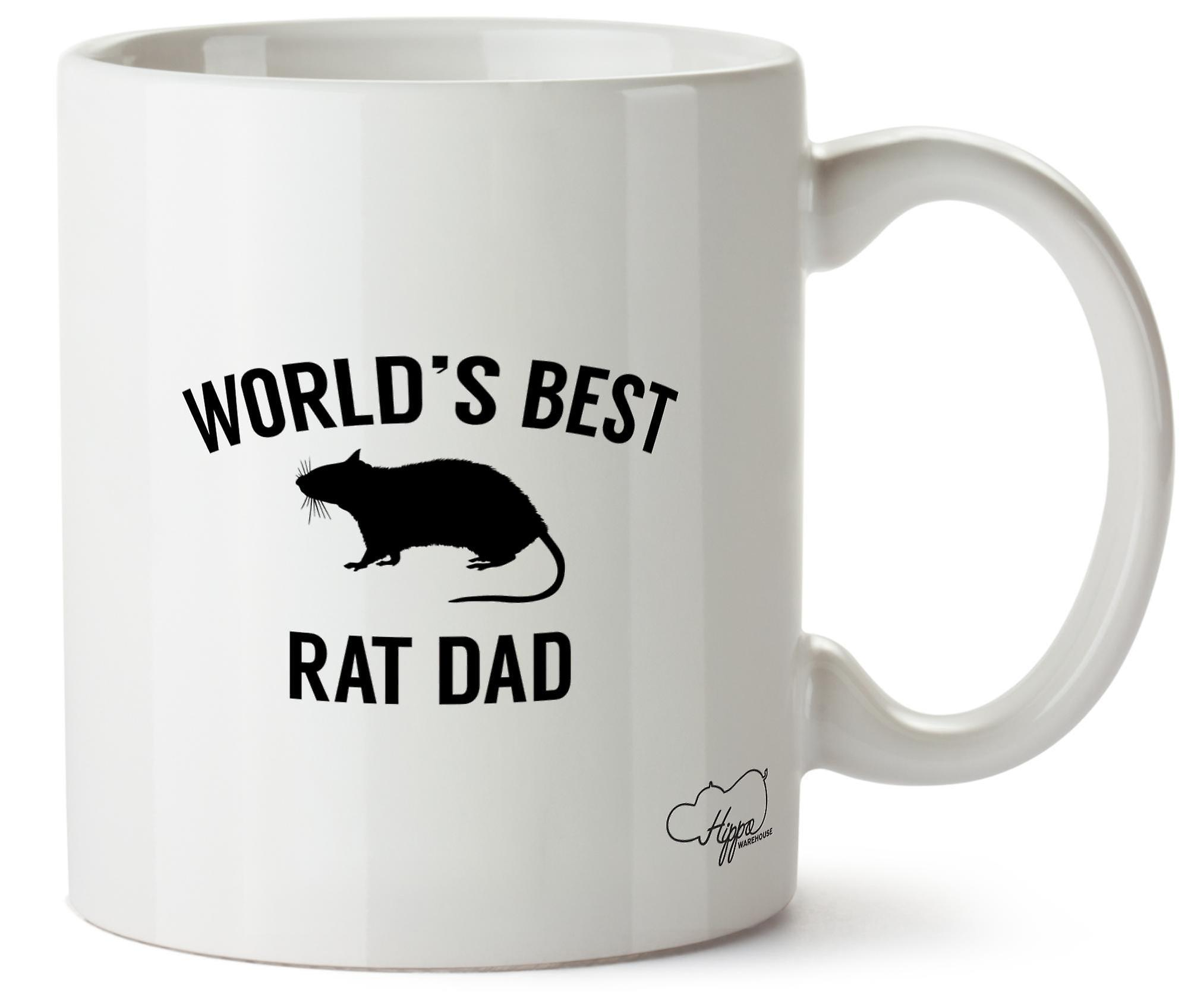 Hippowarehouse Worlds Best Rat Dad 10oz Mug Cup