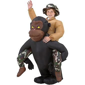 Gorilla Rider Inflatable Costume