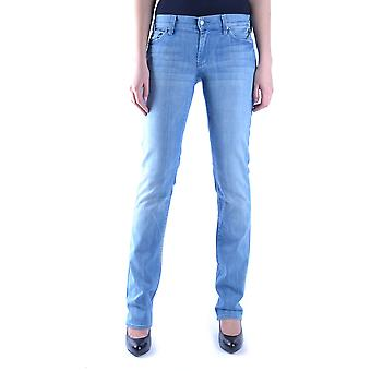 7 For All Mankind Ezbc110021 Women's Blue Cotton Jeans