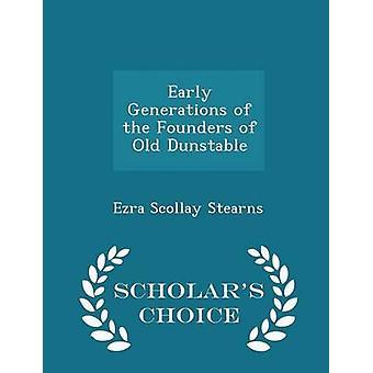 الأجيال المبكرة من مؤسسي القديمة الطبعة اختيار العلماء Dunstable حسب ستيرنز & سولي عزرا