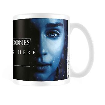 Game of Thrones Mug Winter is Here Daenerys Official New White 11fl oz Boxed