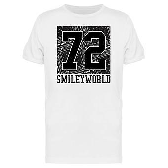 SmileyWorld 72 Bandana Background Men's T-shirt