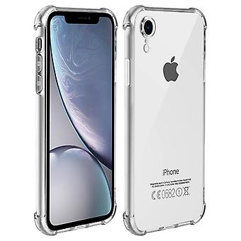 Case for iPhone XR Silicone gel protection Reinforced angles Transparent