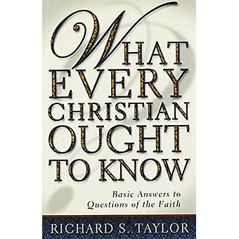 What Every Christian Ought to Know - Basic Answers to Questions of the