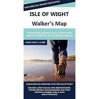 Isle of Wight Walkers Map - 9781852151911 Book