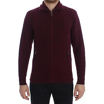 Bordeaux knitted cashmere sweater