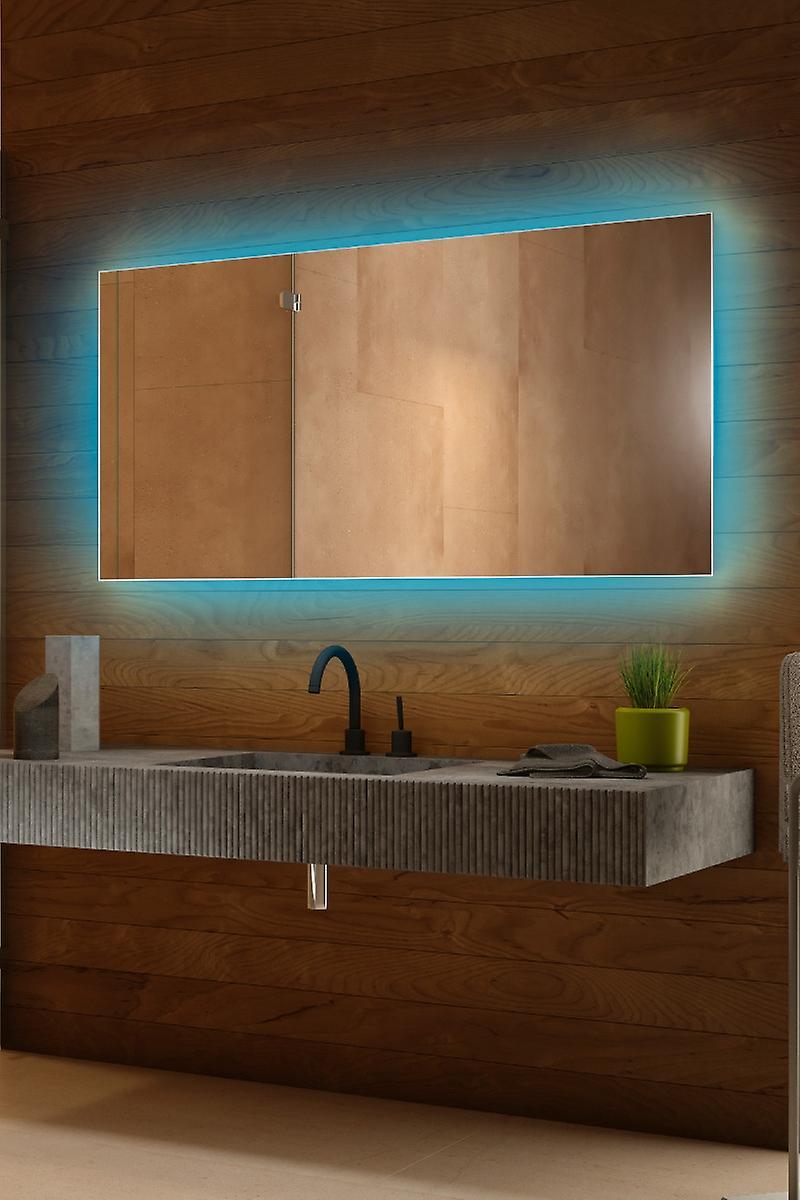 RGB audio rétro-éclairé miroir avec capteur, rasoir Socket k713BLrgbaud
