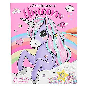 Depesche 10534 Colouring Book Create Your Unicorn Ylvi and Minimoomis