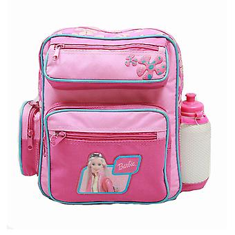Small Backpack - Barbie - w/ Water Bottle - Pink New School Bag 15375