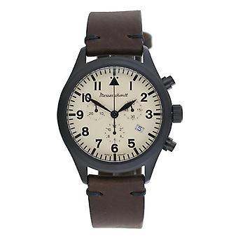 Aristo Men's Messerschmitt Watch Stainless Steel Chronograph ME5030-44VB Leather