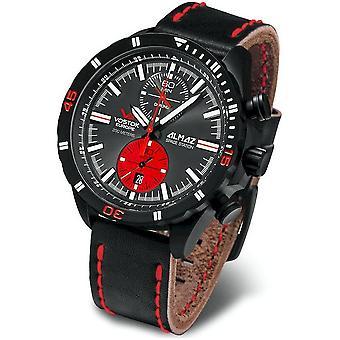 Vostok-Europe Men's Watch 6S11-320C260 Chronographs, Diver Watch Leather Strap