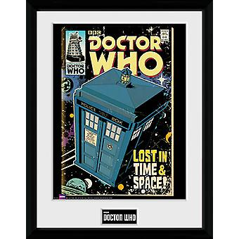 Doctor Who Tardis Comic ingelijst Collector Print 40x30cm