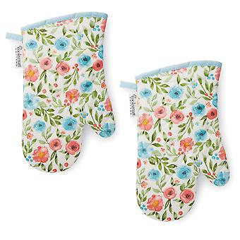 Cooksmart Country Floral Set of 2 Gauntlets