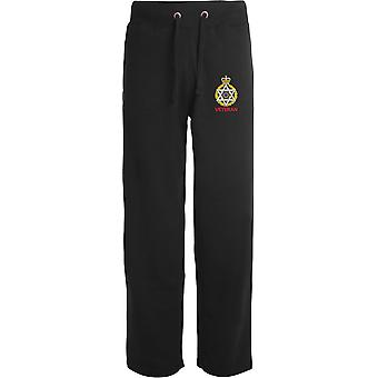 Royal Army Chaplains Department-jødisk veteran-licenseret British Army broderet åbne hem sweatpants/jogging bunde