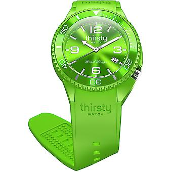 Thirsty Kiwi Unisex Watch for Unisex Analog Japanese Quartz with Silicone Bracelet BO-KIWI