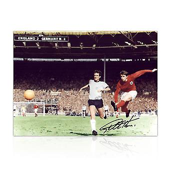 Geoff unterschrieb England Football Foto: 1966 World Cup Third Goal