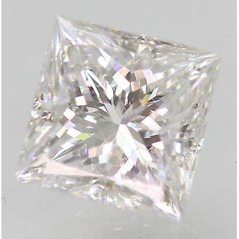 Certificato 1.00 Carat D VVS2 Principessa Migliorata Diamante Sciolto Naturale 5.58x5.67mm