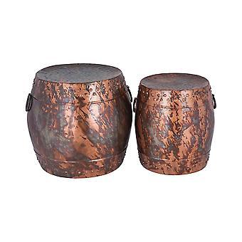 Brown zagora stools (set of 2) stein world