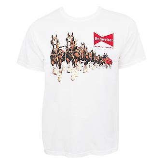 Budweiser miehet ' s valkoinen Clydesdales T-paita
