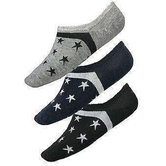 Sneaker Socks Star Pattern Footies Stockings 6 Pack Unisex Footwear 40-46 Basic