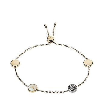 Emporio Armani Women's bracelet in stainless steel with Cubic Zirconia and Mother of Pearl EGS2348710