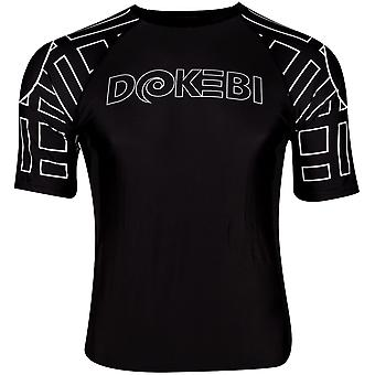 Dokebi Ghost Ranked Short Sleeve BJJ Rashguard - Negru