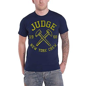 Judge T Shirt Hammers Mignight Band Logo new Official Mens Navy