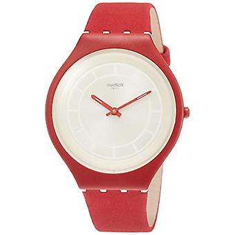 Swatch ladies Quartz analogue watch with leather strap SVUR100