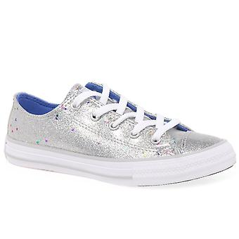 Converse All Star 1V Galaxy Glimmer Girls Junior Canvas Shoes