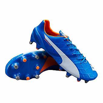 Puma evoSPEED 1,4 blandet myk bakken fotball støvler (elektrisk blå)