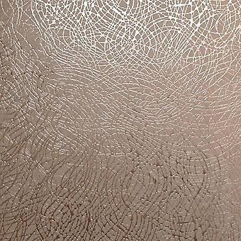 Rose Gold geometrische Wirbel Tapete Metallic strukturierte Vinyl Arthouse Folie