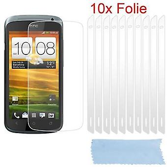 Cadorabo Protective Film for HTC One S Case Cover - 10 pieces of highly transparent protective films against dust, dirt and scratches