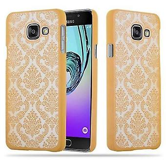 Samsung Galaxy A3 2016 Custodia rigida in GOLD di Cadorabo - Flowers Paisley Henna Design Protective Case – Phone Case Bumper Back Case Cover