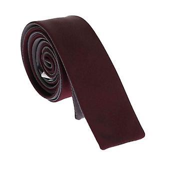 Dolce & Gabbana Bordeaux Jedwabny krawat wąski--KRA1328368