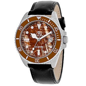 Christian Van Sant Hommes apos;s Montego Vintage Brown Dial Watch - CV5101LB
