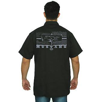 Trabajo mecánico camisa Ford Mustang rejilla de panal hombres