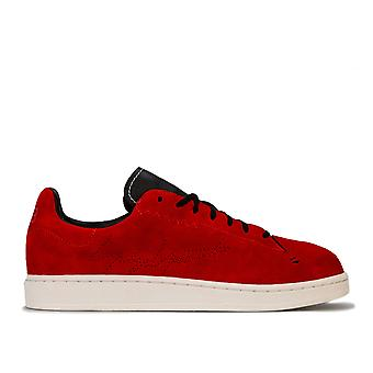 Mens Y-3 Yohji Court Trainers In Red Black- Lace Fastening- Padded Collar-