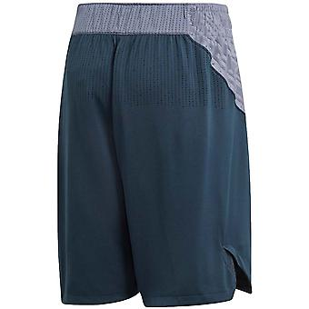 adidas Performance Mens Real Madrid Football Sports Training Game Shorts - Grey