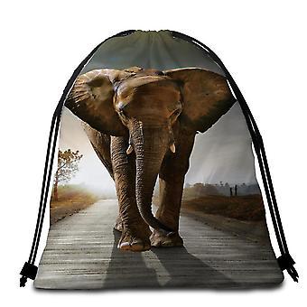 Elefant Foto Strand Tuch