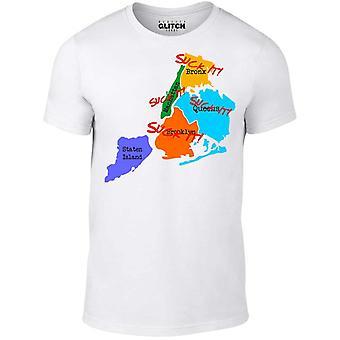 Mannen ' s zuigen het New York t-shirt.