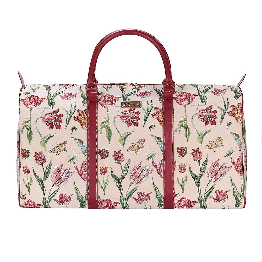 Marrel's tulip white big holdall by signare tapestry / bhold-jmtwt