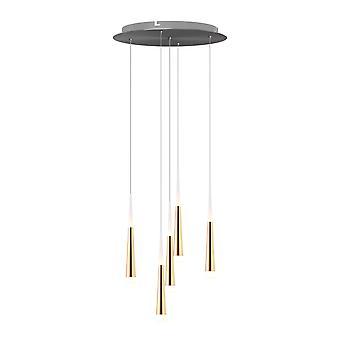 Comet 5 Mini Pendant Lighting Gold