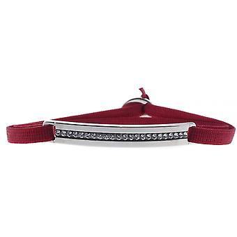 Bracelet interchangeable A41184 - fabric red woman Swarovski crystals Bracelet