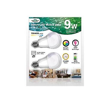 Mv Smart Bulb 9W E27 Twin Pack