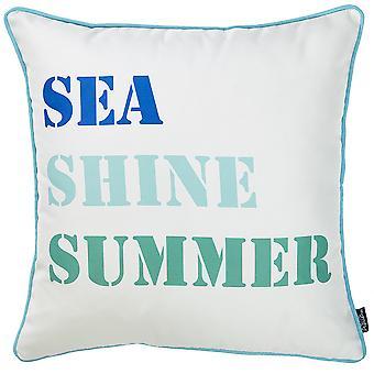 """18 """"x"""" mariene zee Shine decoratieve gooien kussensloop afgedrukt"""