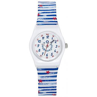 Watch Lulu Castanet 38836 - Silicone blue and white girl