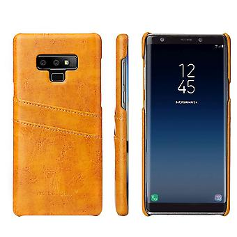 For Samsung Galaxy Note 9 Case Deluxe Wallet Leather Cover 2 Card Slots Yellow