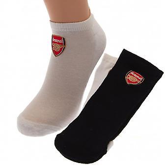 Arsenal FC Mens Trainer Socks (2 Pairs)