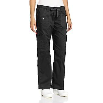 Dickies Frauen's GenFlex Cargo Scrubs Hose, schwarz, groß, schwarz, Größe groß